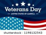 veterans day concept background.... | Shutterstock .eps vector #1198132543
