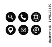 web icons set. universal web... | Shutterstock .eps vector #1198133650
