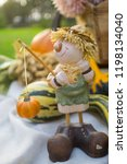 autumn decorations during the... | Shutterstock . vector #1198134040