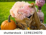 autumn decorations during the... | Shutterstock . vector #1198134070