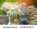 autumn decorations during the... | Shutterstock . vector #1198134073