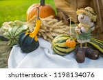 autumn decorations during the... | Shutterstock . vector #1198134076