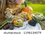 autumn decorations during the... | Shutterstock . vector #1198134079