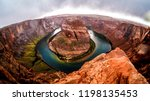 horseshoe bend on a rainy day... | Shutterstock . vector #1198135453