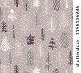 seamless pattern christmas...   Shutterstock .eps vector #1198136986