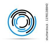 round logo with a blue and...   Shutterstock .eps vector #1198138840