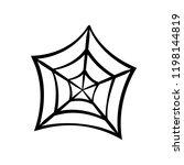 spider web icon. cobweb vector... | Shutterstock .eps vector #1198144819