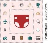 nappy icon symbol | Shutterstock .eps vector #1198147996