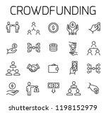 crowdfunding related vector... | Shutterstock .eps vector #1198152979