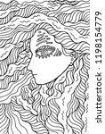 fantastic shaman girl   doodle... | Shutterstock . vector #1198154779