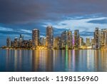 miami business district  lights ... | Shutterstock . vector #1198156960