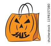 set of shopping bags with the... | Shutterstock .eps vector #1198157380
