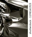 crinkled tin foil.  | Shutterstock . vector #1198161523