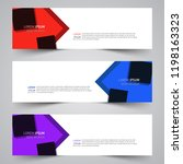 modern vector abstract... | Shutterstock .eps vector #1198163323
