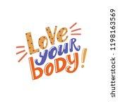love your body   positive... | Shutterstock .eps vector #1198163569