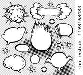 comic style speech bubbles...   Shutterstock .eps vector #1198168483