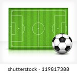 football  soccer  field stadium ... | Shutterstock .eps vector #119817388