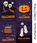 happy halloween. bundle of... | Shutterstock .eps vector #1198177816