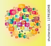 media circle | Shutterstock .eps vector #119818048
