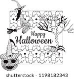 happy halloween  banner. a... | Shutterstock .eps vector #1198182343