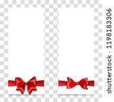 holiday gift banner with red...   Shutterstock .eps vector #1198183306