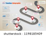 business road map timeline... | Shutterstock .eps vector #1198185409