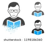 reader student icon with face... | Shutterstock .eps vector #1198186360