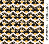 leaf chevron stripes seamless... | Shutterstock .eps vector #1198186870
