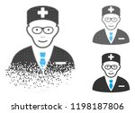 head physician icon with face... | Shutterstock .eps vector #1198187806