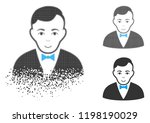 dealer icon with face in... | Shutterstock .eps vector #1198190029