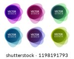 set of colorful round abstract... | Shutterstock .eps vector #1198191793