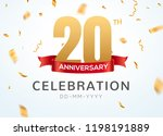 20 anniversary gold numbers... | Shutterstock .eps vector #1198191889