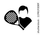 racket sport symbol   Shutterstock .eps vector #1198193089