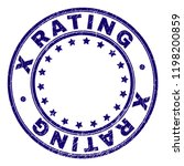 x rating stamp seal watermark... | Shutterstock .eps vector #1198200859