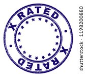 x rated stamp seal imprint with ... | Shutterstock .eps vector #1198200880