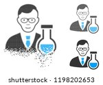 chemist icon with face in... | Shutterstock .eps vector #1198202653