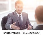 closeup.manager and client...   Shutterstock . vector #1198205320