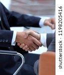 handshake of business partners... | Shutterstock . vector #1198205416