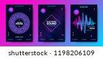 electronic music festival... | Shutterstock .eps vector #1198206109