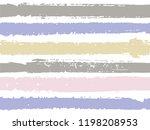 horizontal ink lines paint... | Shutterstock .eps vector #1198208953
