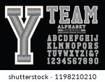 a collegiate or sports styled... | Shutterstock .eps vector #1198210210