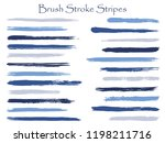 trendy ink brush stroke stripes ... | Shutterstock .eps vector #1198211716