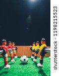 table football soccer kicker... | Shutterstock . vector #1198215523
