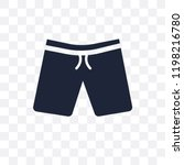 fitness shorts transparent icon.... | Shutterstock .eps vector #1198216780