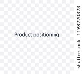 product positioning transparent ... | Shutterstock .eps vector #1198220323