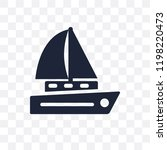 sailboat icon transparent icon. ... | Shutterstock .eps vector #1198220473