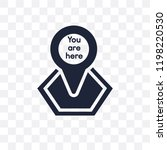 you are here transparent icon.... | Shutterstock .eps vector #1198220530