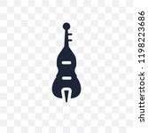 double bass transparent icon.... | Shutterstock .eps vector #1198223686