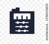 sound mixer transparent icon.... | Shutterstock .eps vector #1198223833