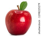 red apple isolated on white...   Shutterstock . vector #1198225279